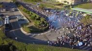Imagens impressionantes da saída do FC Porto rumo ao Dragão