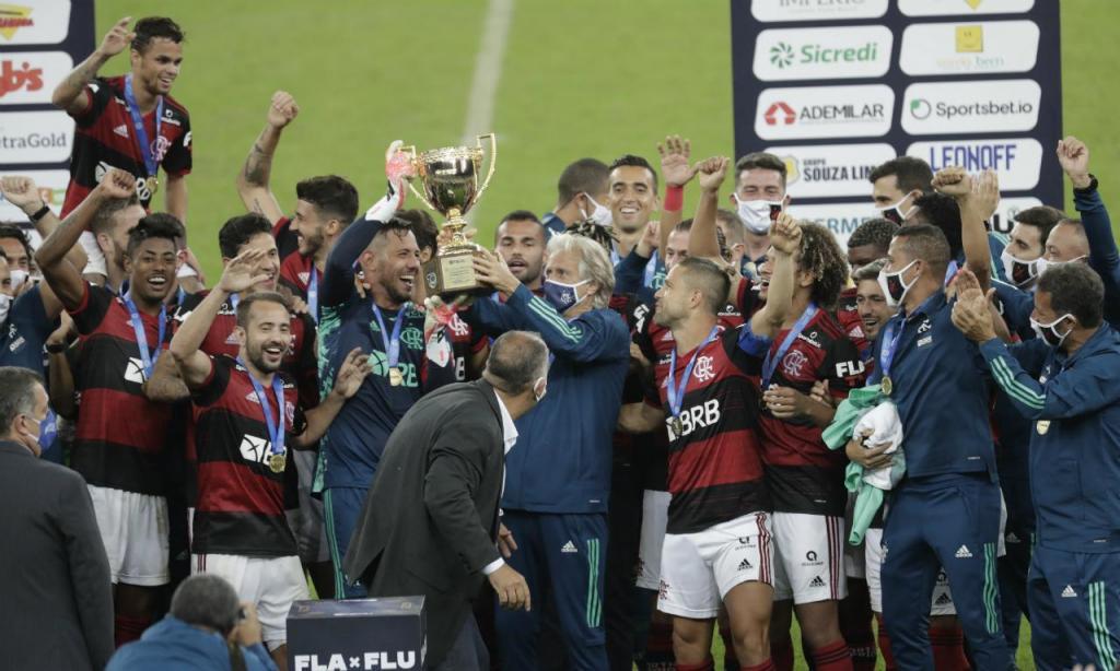 Flamego Campeão Carioca (foto EPA/ANTONIO LACERDA)
