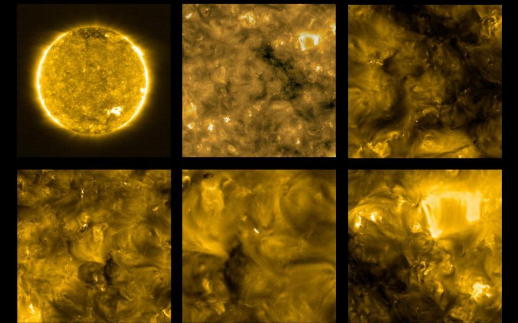 Imagens do Sol