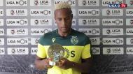 Jovane Cabral recebeu prémio de Jogador do Mês