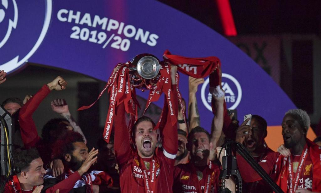 A festa do título do Liverpool (AP)