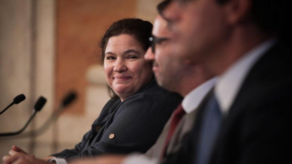 Ministra Alexandra Leitão no Conselho de Ministros