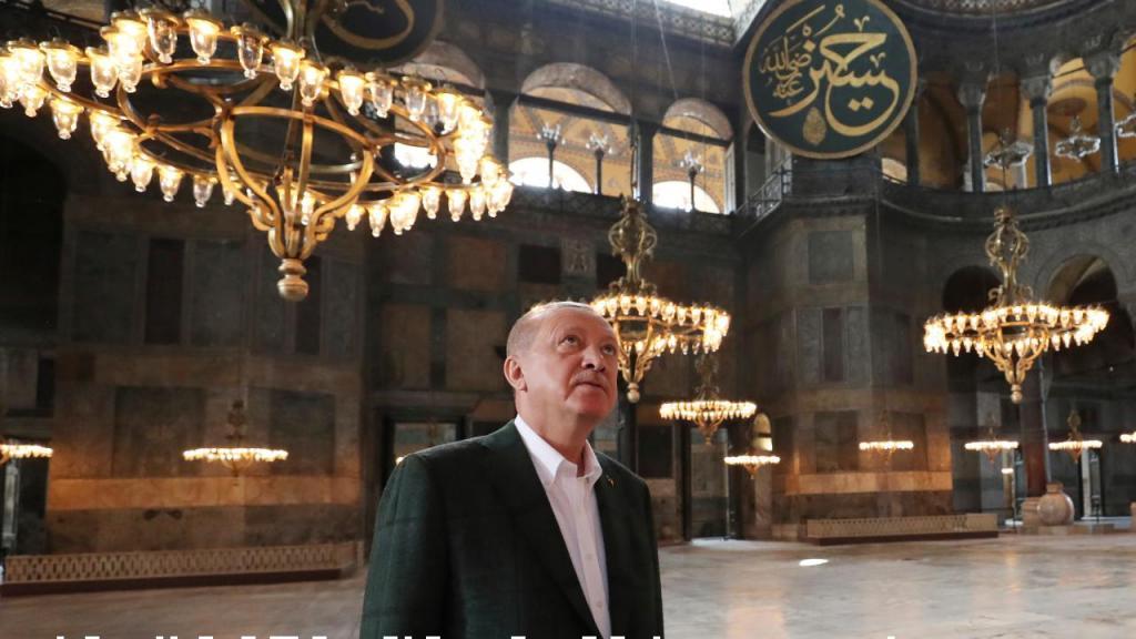 Erdogan na Santa Sofia