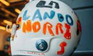 Menina de seis anos ilustrou capacete de Lando Norris para o GP de Silverstone (Foto: Lando Norris - Facebook)