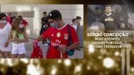 Cerca de uma centena de adeptos à porta do hotel do Benfica