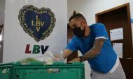 Alex Telles fez voluntariado na Legião da Boa Vontade (foto Legião da Boa Vontade)