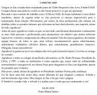 Rescisão Nuno Manta
