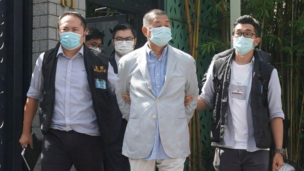 Detenção de Jimmy Lai por conluio com potências estrangeiras