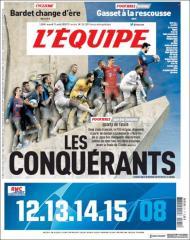 Capa do jornal L'Equipe de 11 de agosto de 2020