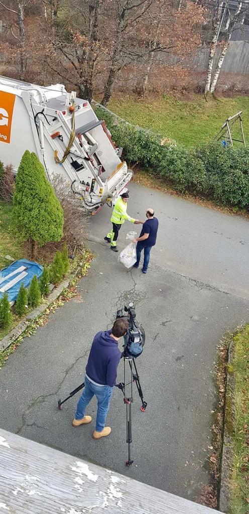 Reportagem TVI na recolha de lixo em Bergen, Noruega