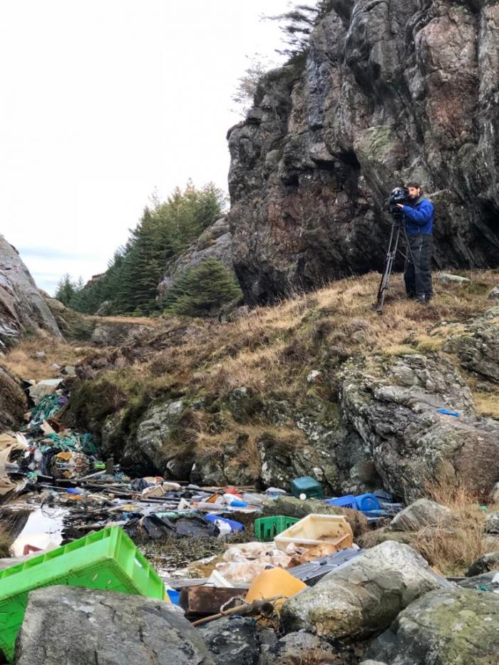Plástico polui os fiordes da Noruega