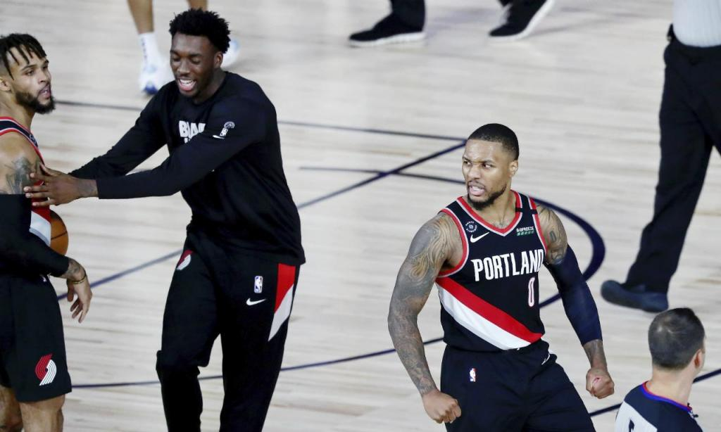 Damian Lillard (Kim Klement/Pool Photo via AP)
