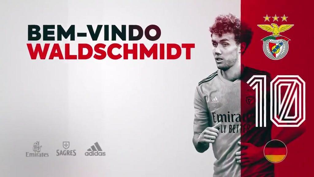 Waldschmidt foi apresentado pelo Benfica (e já tem lugar no balneário)