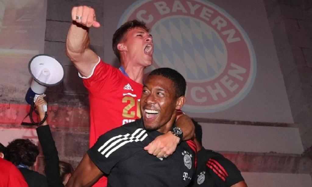 Festa do Bayern Munique no hotel (foto Instagram)