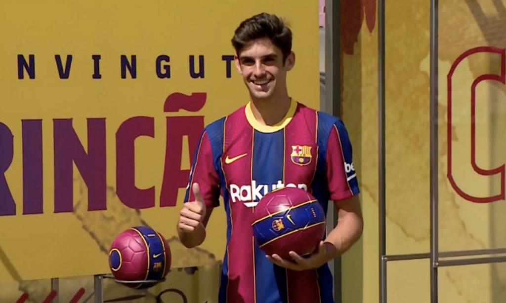 Francisco Trincão apresentado no Barcelona (Barça TV)