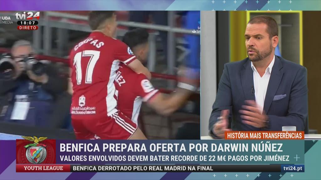 Mais Transferências: Darwin Núñez quer jogar no Benfica