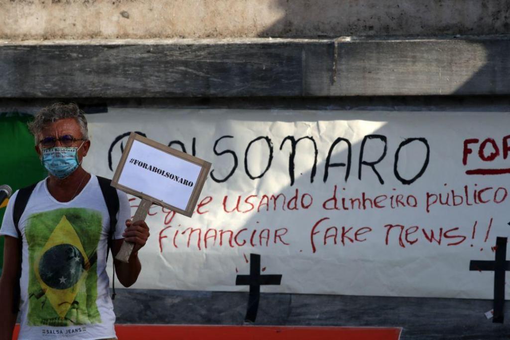 Brasileiros manifestam-se em Lisboa contra Bolsonaro
