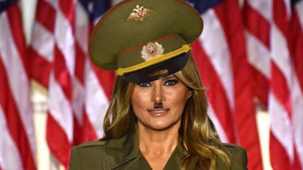 A roupa escolhida por Melania Trump que não passou despercebida aos