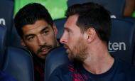 Lionel Messi e Luis Suárez (AP/Joan Monfort)