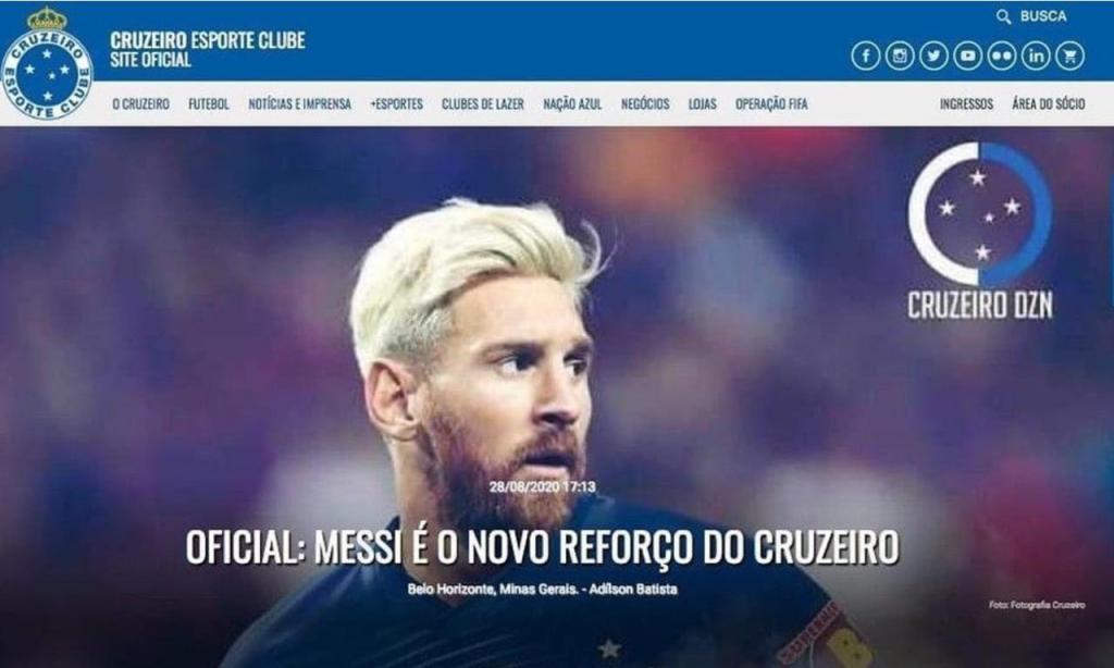 Cruzeiro anuncia Messi