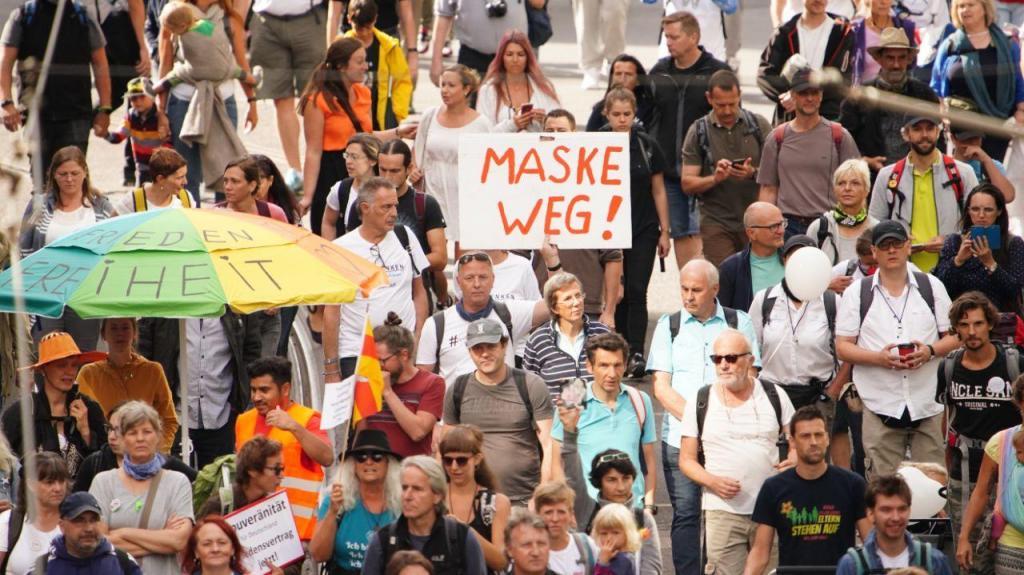 Manifestação em Berlim