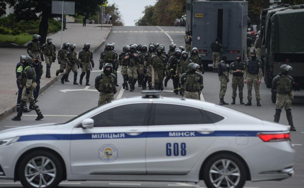 Protesto na Bielorrúsia