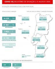 Relatório da DGS de 31 de agosto