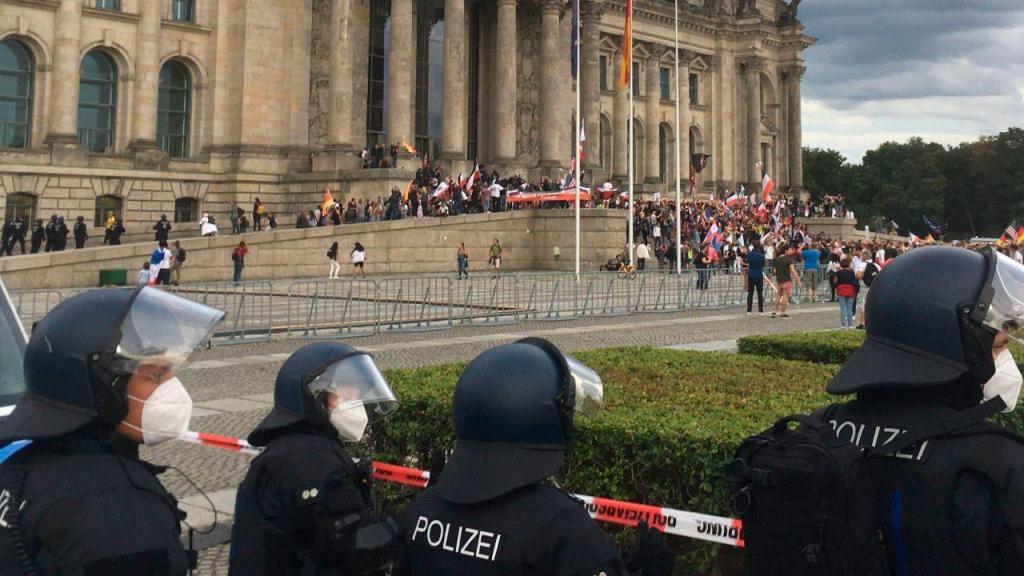 Protesto anti-máscara na Alemanha