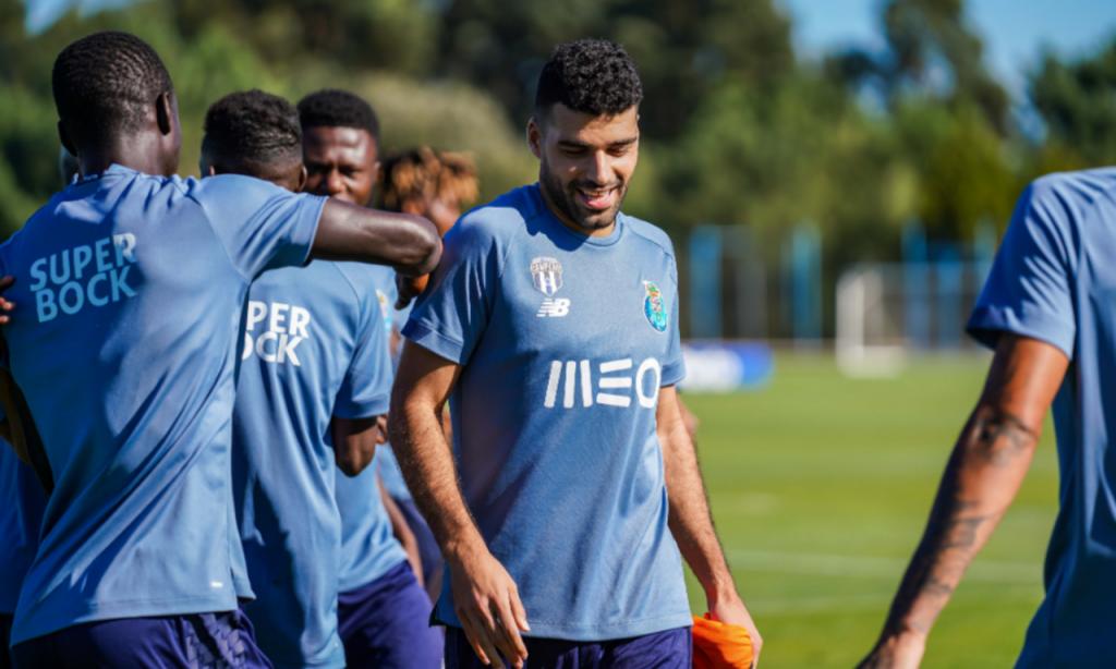 Mehdi Taremi no primeiro treino pelo FC Porto, 1 de setembro (FC Porto)