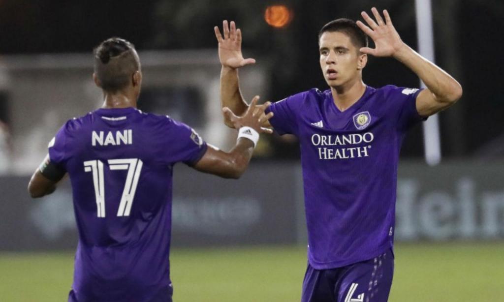João Moutinho e Nani no Orlando City
