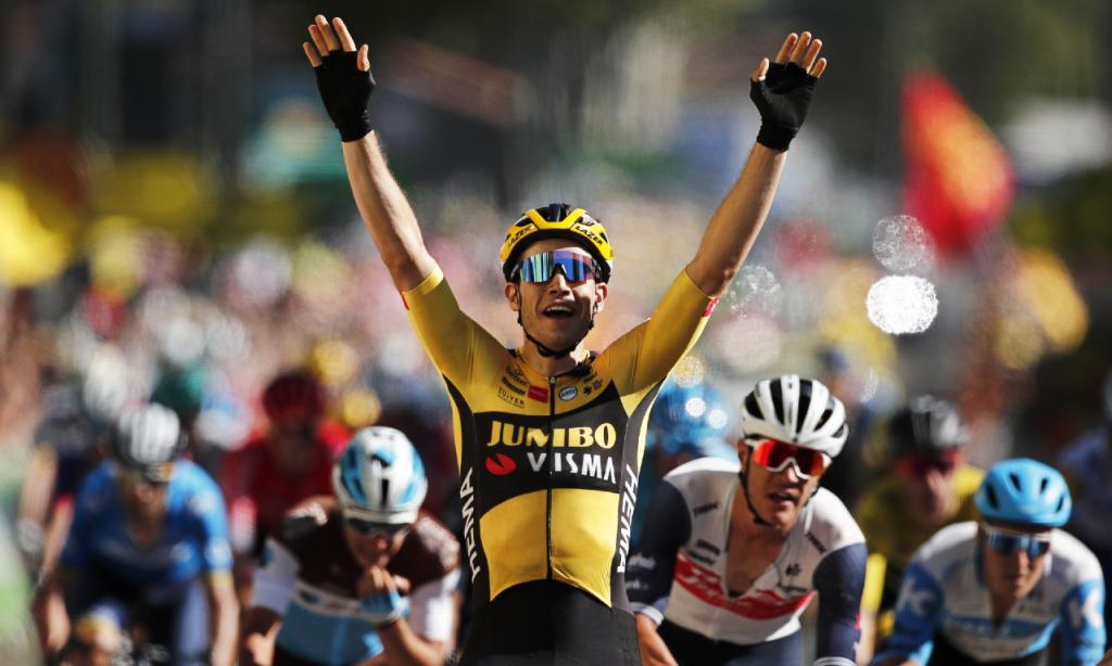 Wout van Aert vence 7.ª etapa da Volta a França (Benoit Tessier/EPA)