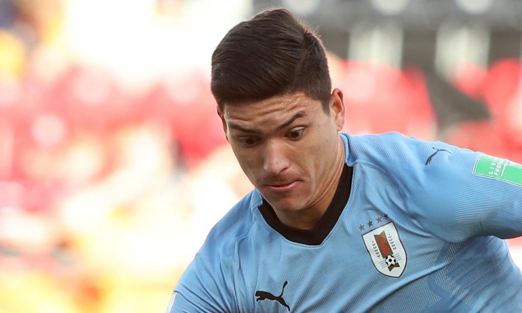 Darwin Nuñez pela seleção do Uruguai (AP)
