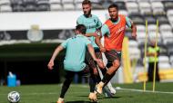 Portugal realizou treino no Bessa antes da partida para a Suécia (Diogo Pinto/LUSA)