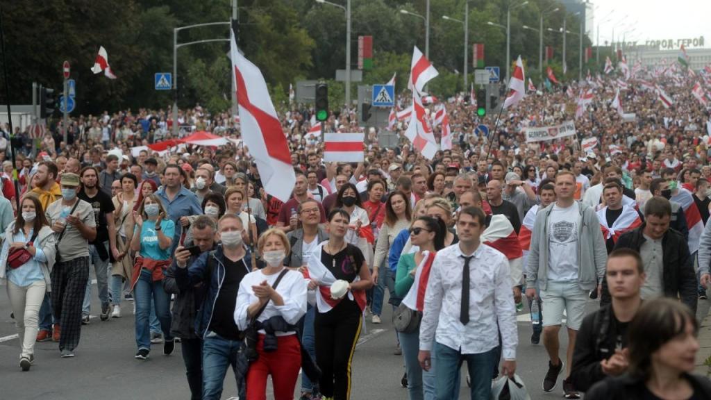 Mais de 630 detidos em manifestação na Bielorússia contra o resultado das eleições
