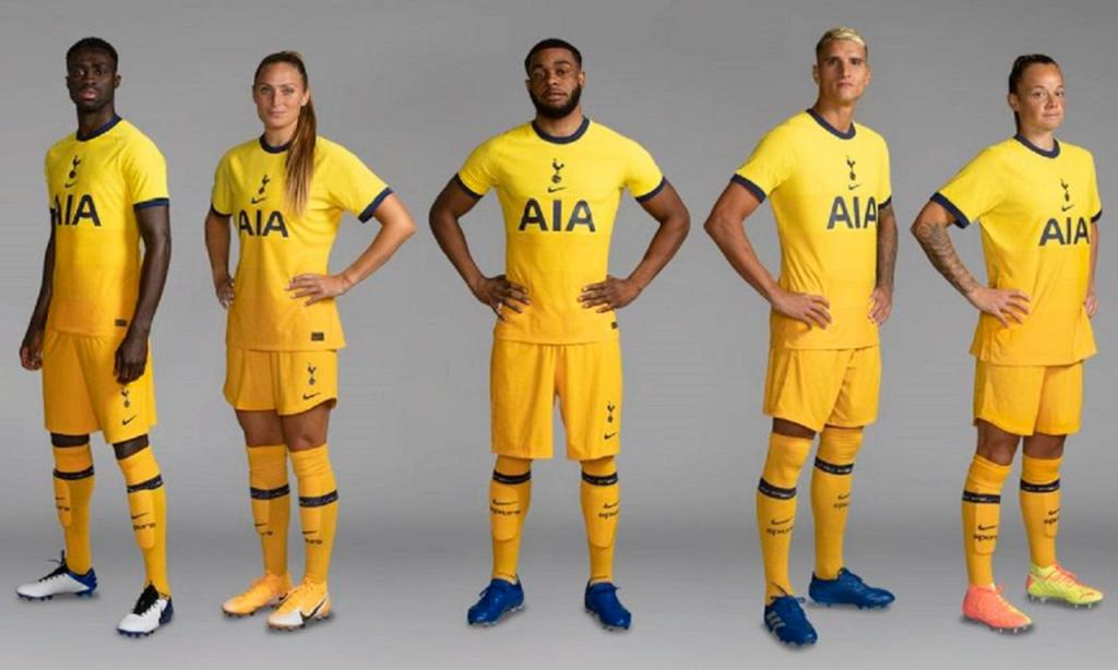 Terceiro equipamento do Tottenham para a época 2020/21