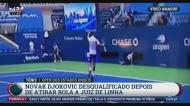 Djokovic declassificado do US Open por causa deste incidente