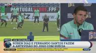 O que é que Ruben Dias está a fazer quando Ronaldo fez três golos na Suécia?