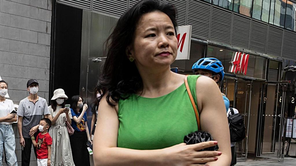 A jornalista Cheng Lei