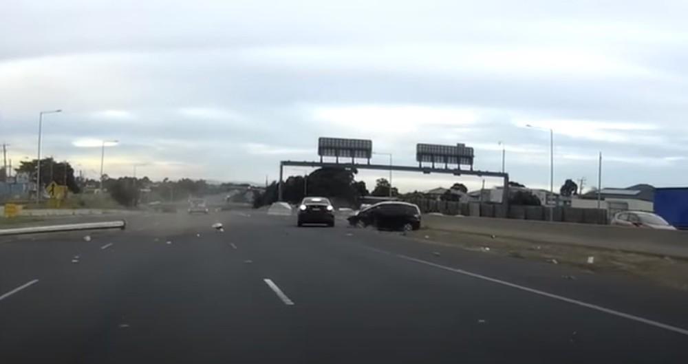 Acidente na Austrália (Reprodução Youtube)