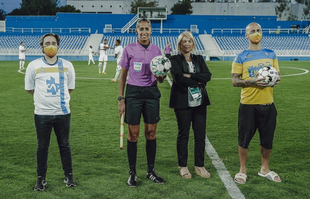 Vanessa Gomes, a primeira árbitra portuguesa no futebol profissional masculino