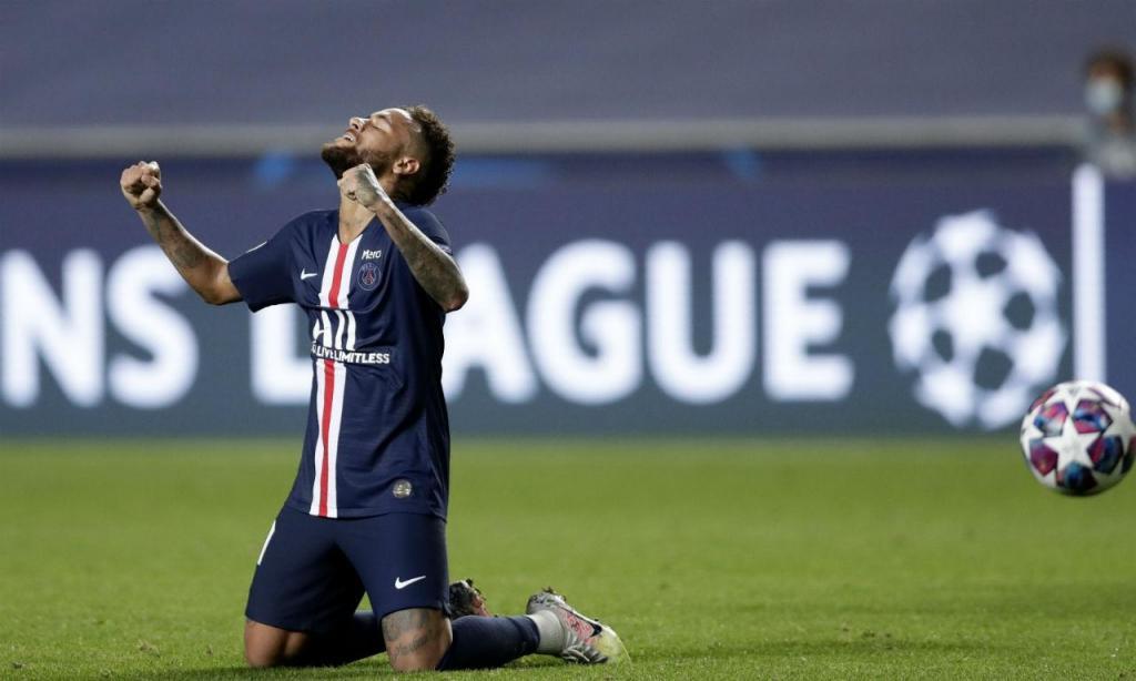 5. Neymar, 91 (Paris Saint-Germain)