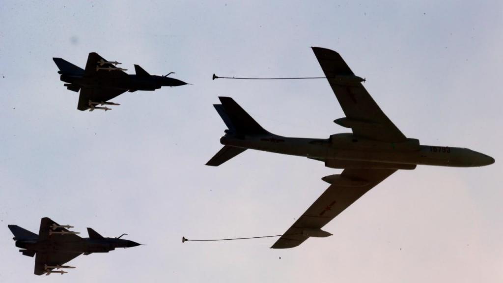 Aviões de guerra chineses