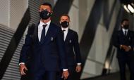 Cristiano Ronaldo chega ao estádio para o jogo com a Sampdoria (foto: Juventus)