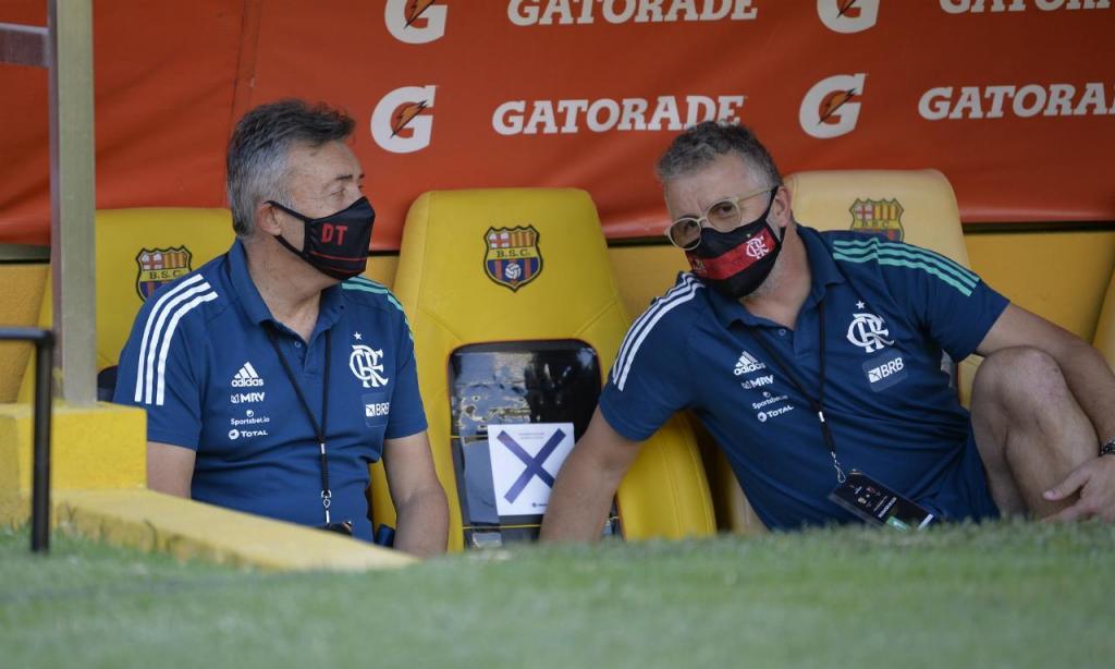 Barcelona SC-Flamengo (AP Photo/Dolores Ochoa, Pool)