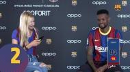 Antes de deixar o Barça, Nélson Semedo ainda deu lição aos colegas em desafio