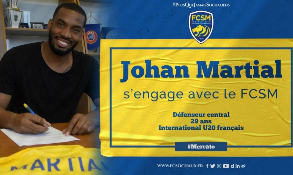 Sochaux contratou irmão de Martial