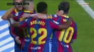 Assistência de Jordi Alba e golaço de Ansu Fati