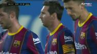Penálti sobre Ansu Fati e golo de Messi (3-0)