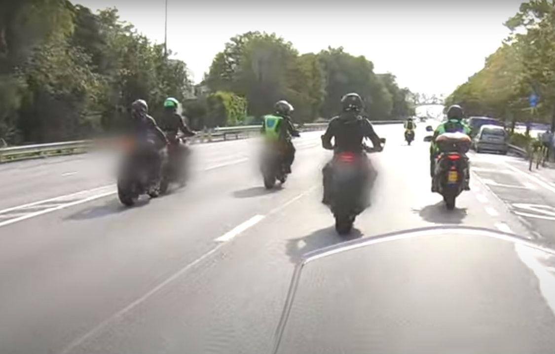 Acidente em passeio motard (reprodução YouTube)