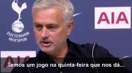 Mourinho assume que não vai lutar pela vitória frente ao Chelsea